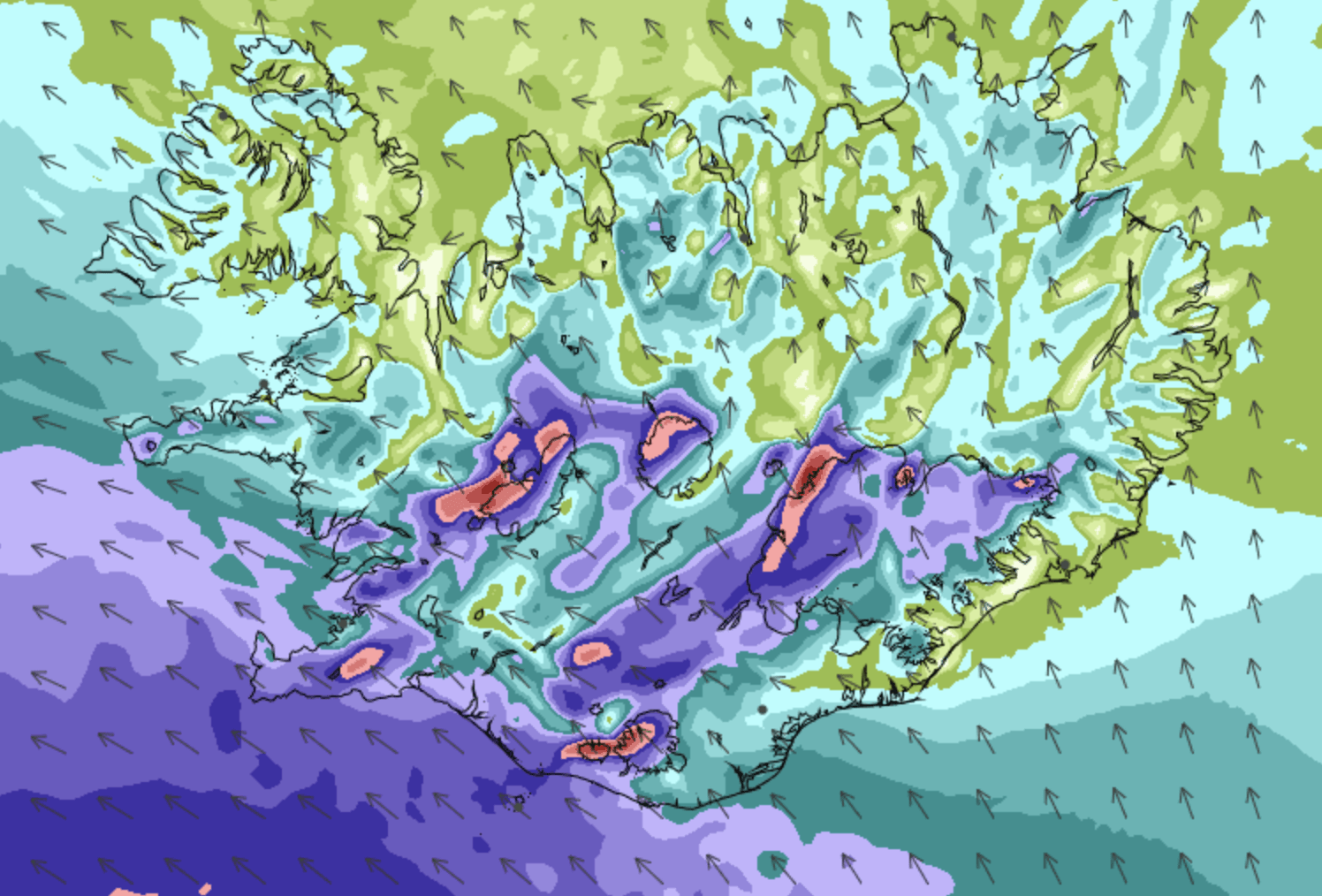 Weather Warning Issued In Southern Iceland