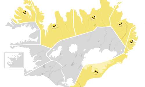 Yellow Weather Alert Issued Around Much Of Iceland Today & Tomorrow