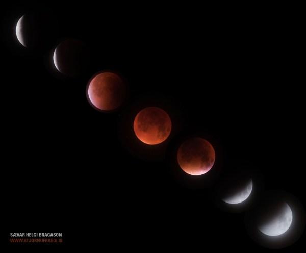 Supermoon eclipse in action, by Sævar Helgi Bragason