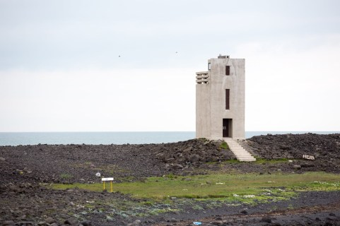 Þorlákshafn Lighthouse. Build in 1951, 8m height.