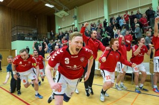 Best Sports Photo by Vilhelm Gunnarsson. Valur Handball Team Celebrates Win