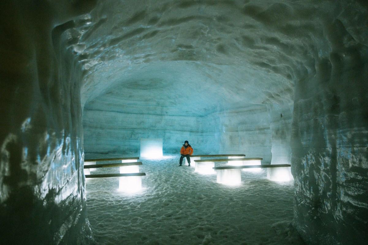 Inside Langjökull's Ice Cave: The Glacial Cavemen