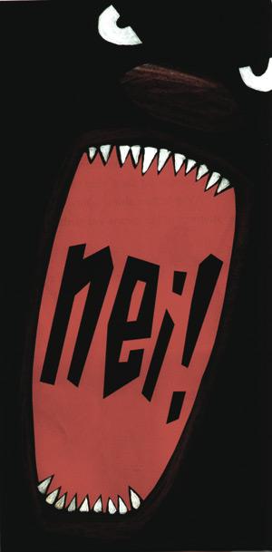 Nei! sagði litla skrímslið (No! said the little monster)