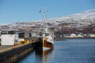 Akureyri also has a working harbour.