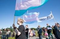Waving the trans flag high