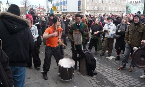 Videos And Photos: The Icelandic Protests That Toppled The Government, Ten Years On