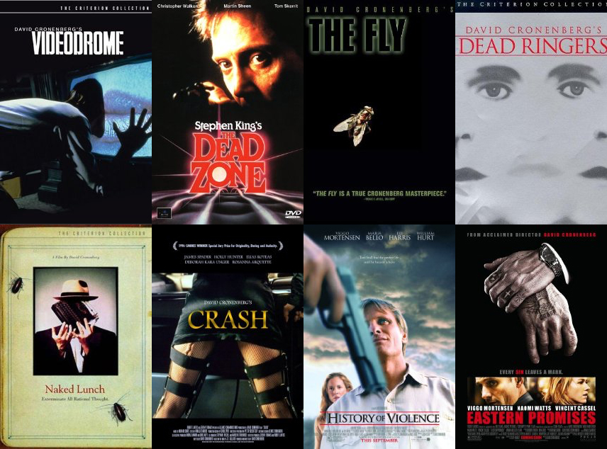 An Almost Totally Random Selection Of David Cronenberg Films, Described