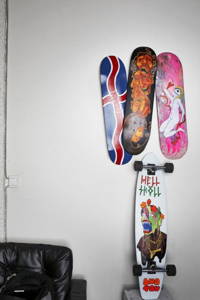 Icelandic Skateboard Design