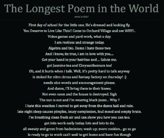 The Longest Poem in the World - The Reykjavik Grapevine