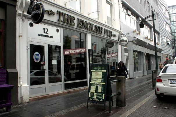 An exterior shot of the English Pub