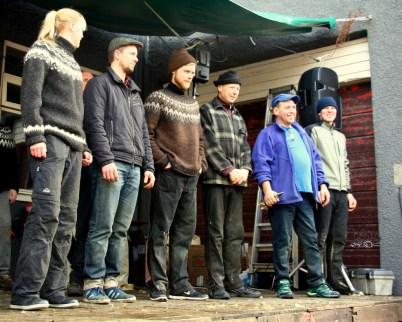 Competitors: Heiða Guðný Ásgeirsdóttir, Höskuldur Kolbeinsson, Þórður Gíslason, Foulty Bush, Julio Cesar Guiterrez and Hafliði Sævarsson.
