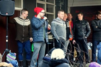 Presenters Hugleikur Dagsson and Þórarinn Ingi Pétursson.