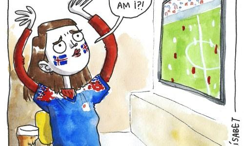 Comic: Elín Elísabet's World Cup Identity Crisis. HÚ!