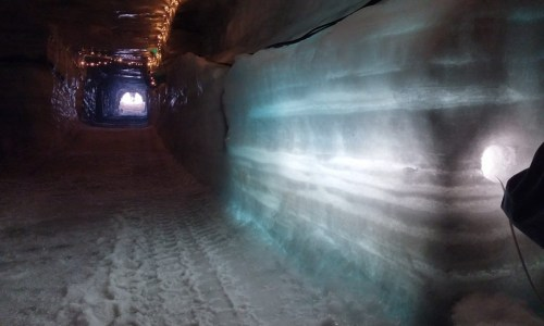 Ice Cave Construction Underway