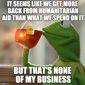 kermit humanitarian aid