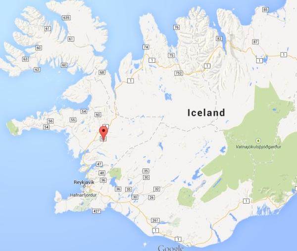 Kleppjárnsreykir on a map