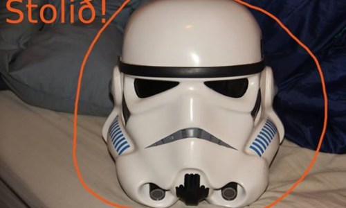 Stormtrooper Helmet Stolen Using The Old Switcheroo