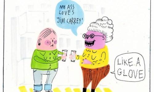 Cartoon: Jim Carrey by Lóa Hjálmtýsdóttir