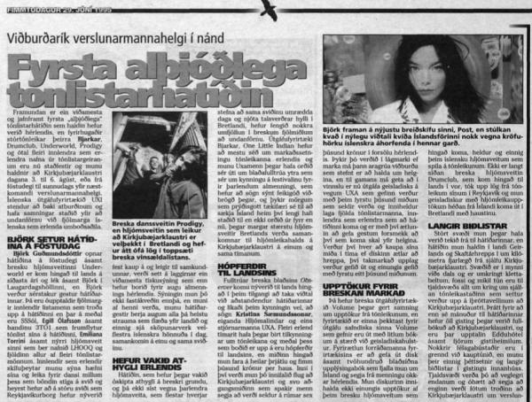 uxi Helgarposturinn June 1995