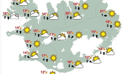 25°C Up North Today, Reykjavík Get Ready For Saturday!
