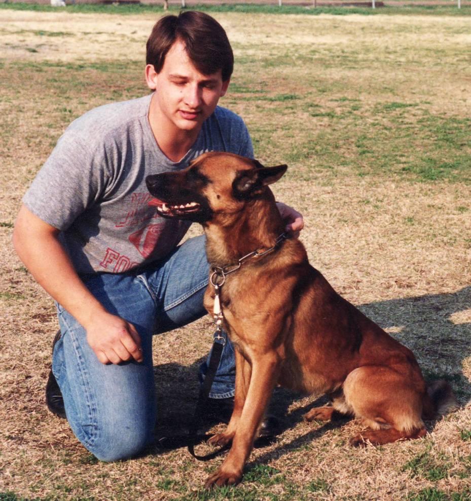Tim Frazier and Bo, GPD K9 Officer 1988