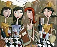 Charles Kaufman Wine Painting