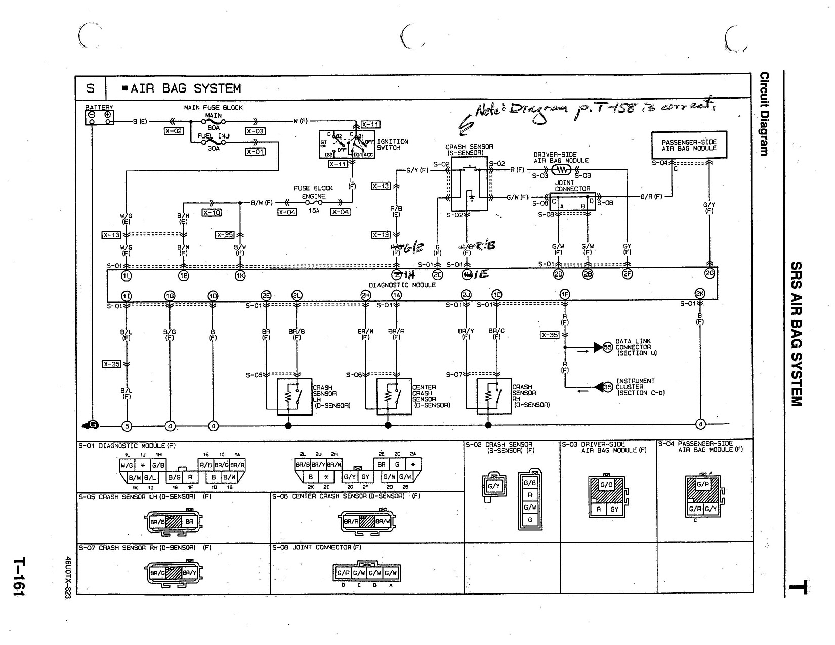 hight resolution of pin 2k 94 airbag control or diagnostic module wiring mx 5 rh forum miata net miata engine diagram 1992 miata ignition wiring diagram