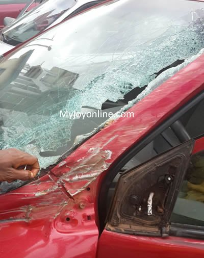 Vick Zugah s damaged car