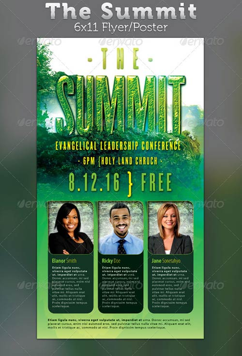 Graphicriver The Summit Evangelical Leadership Conference