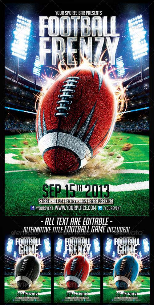 GraphicRiver FootBall Frenzy Flyer Template