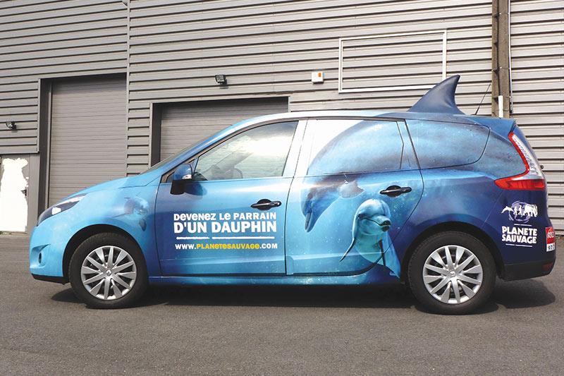 création pose fabrication marquage covering adhésivage véhicule nantes bouguenais