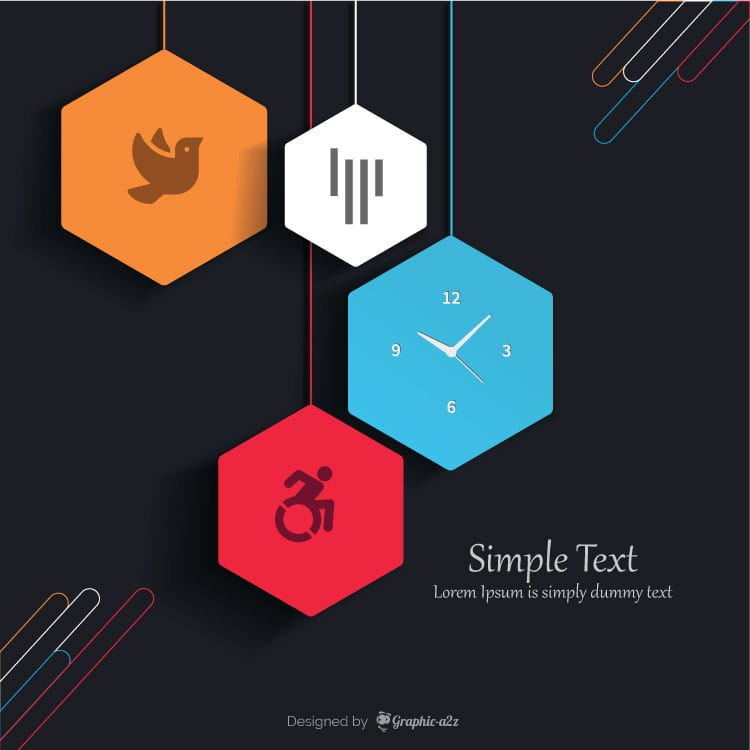 Free Infographic template vector design