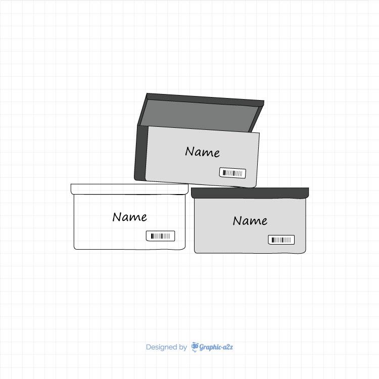 Stak Sneaker Box vector icon design