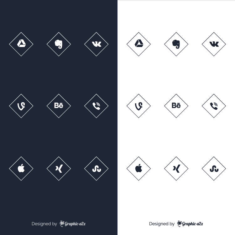 Free social media vector icons for business on Graphica2z
