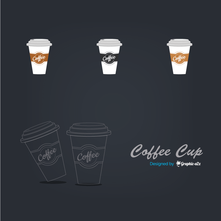 Lineal Color Coffee Cup Vector Icon design