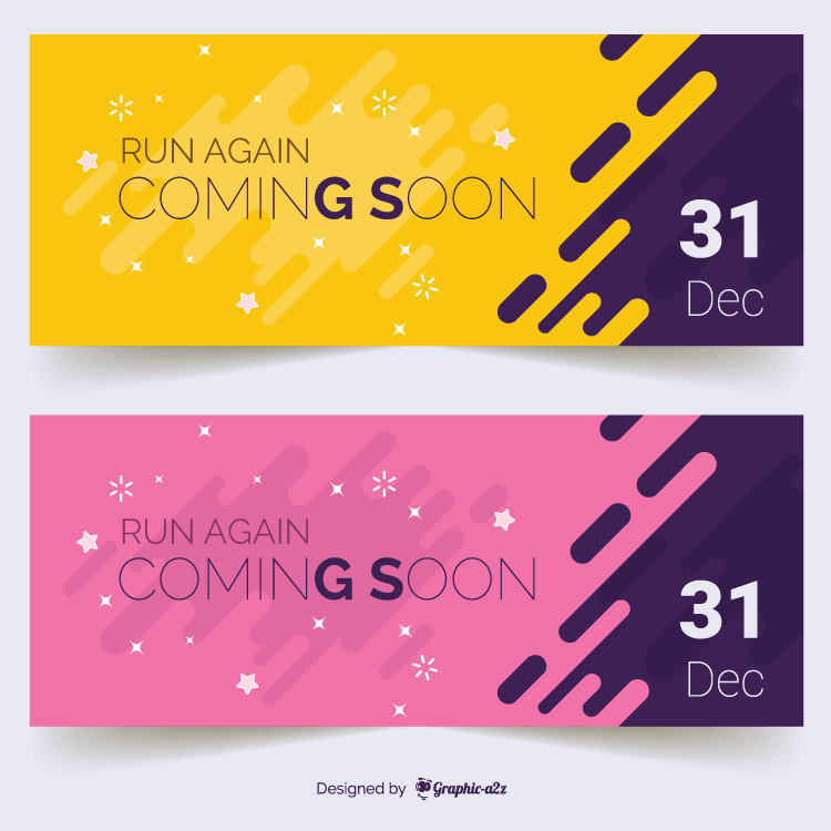 Creative banner vector design for coming soon on Graphica2z
