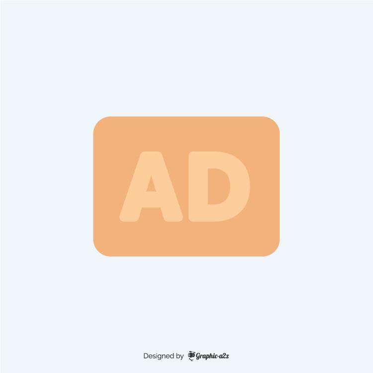 Audio description flat icon vector