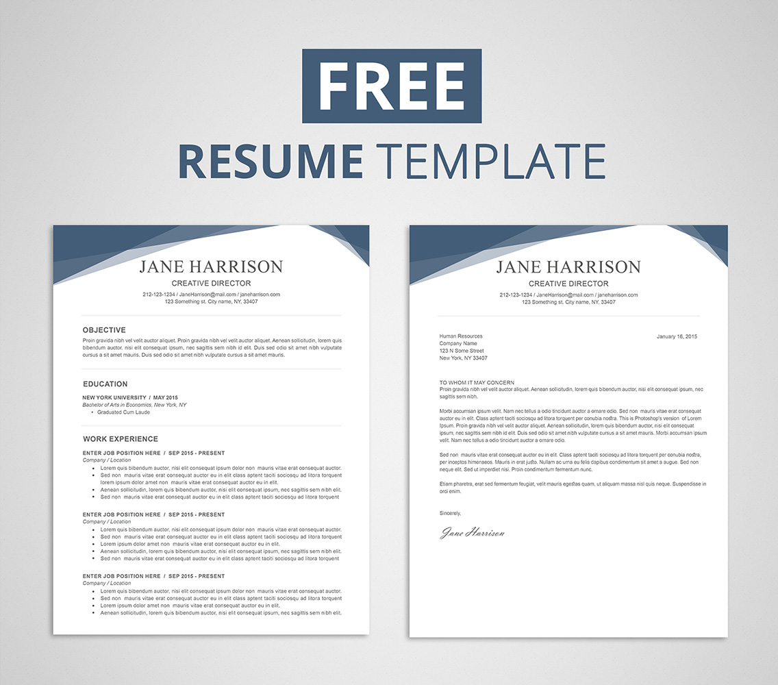 Template For Resume On Word Free Resume Template For Word And Photoshop Graphicadi