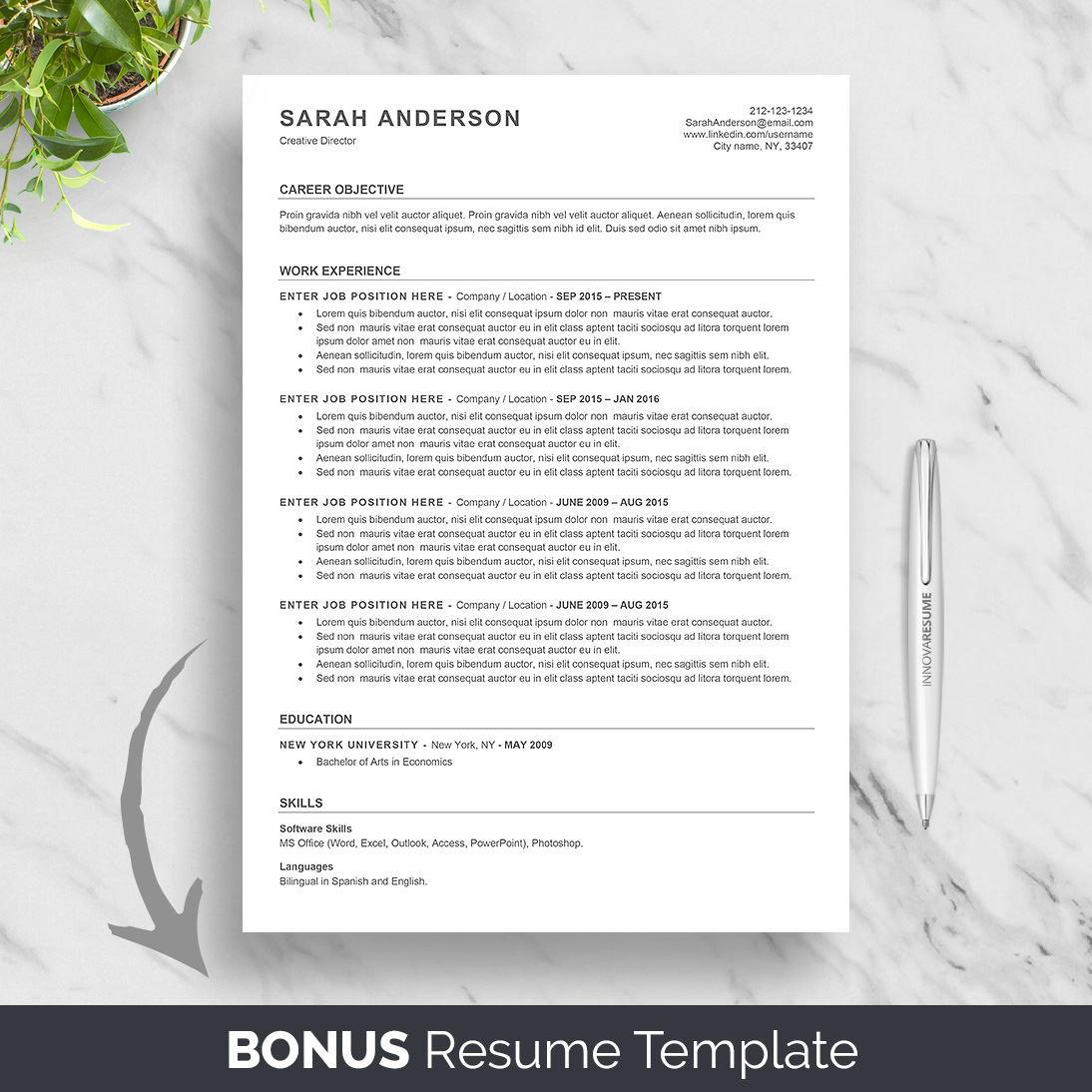 Ats Resume Template 10 43 Best Etsy Resume Templates Graphicadi