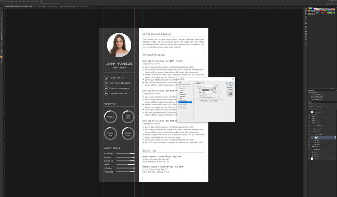 How To Create A Resume Template How To Create A Resume Template In Photoshop Graphicadi