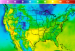 National Temperature Forecast Image