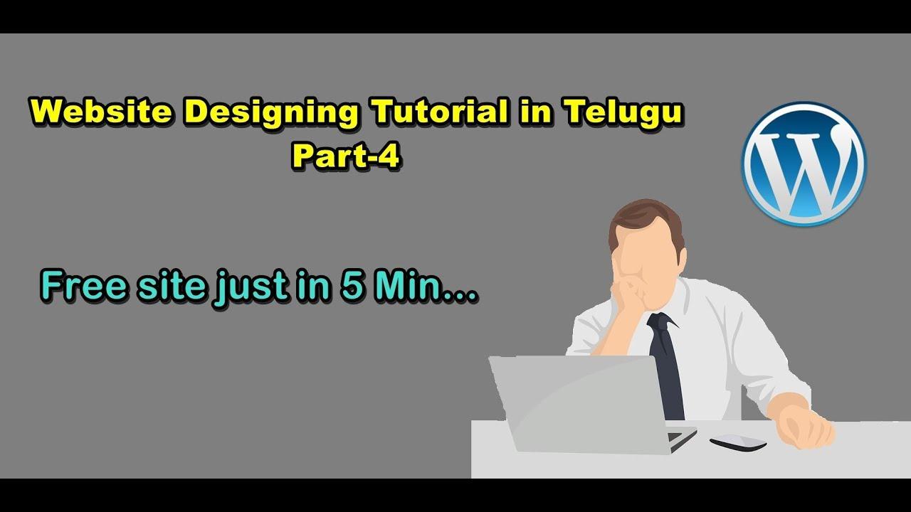 Website Designing Tutorial In Telugu Part 4 Wordpress Graphic Art Design