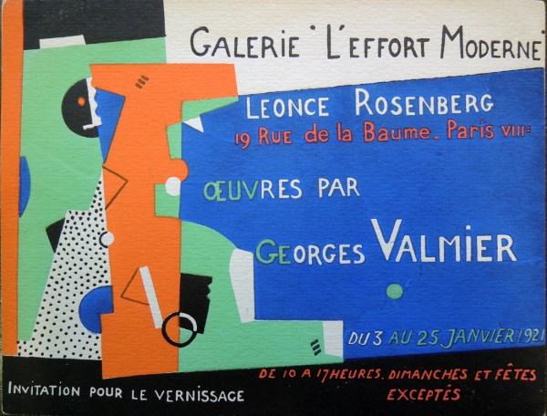 Invitation Galerie De L Effort Moderne Graphic Arts