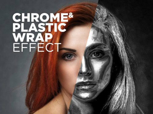 Free Photoshop Action Chrome & Plastic Wrap