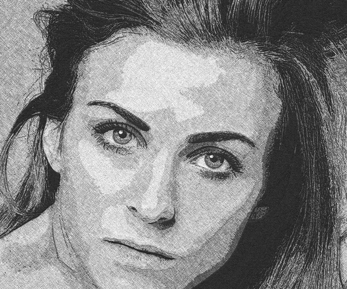 Free photoshop actions Portrait Drawing effect