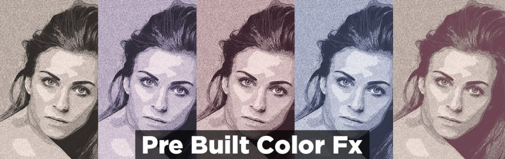 portrait drawing color