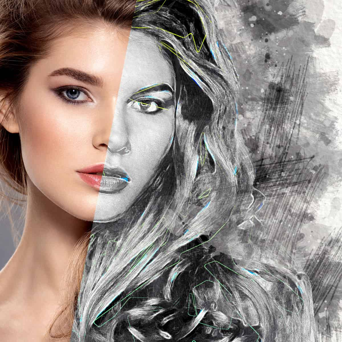 Artistic Mix Art Photo Effect