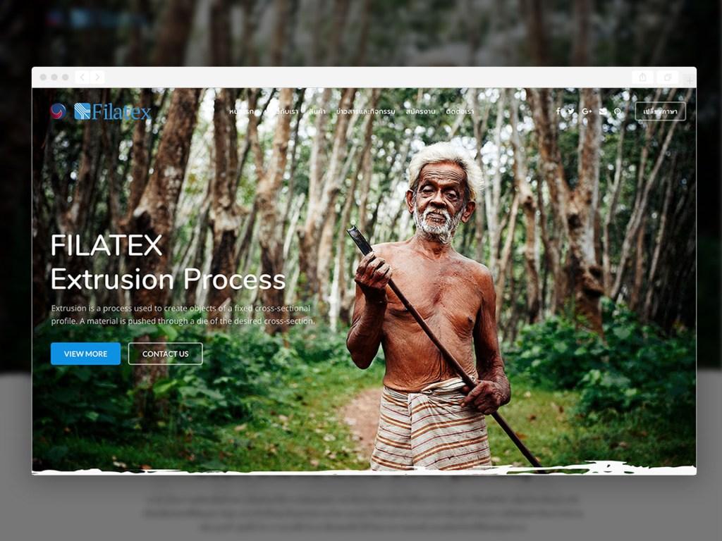 ผลงานออกแบบเว็บไซต์ Filatex