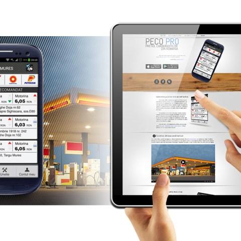 Web layout of Peco Pro