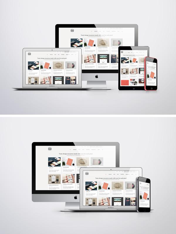 Apple Responsive Screen MockUps GraphicBurger